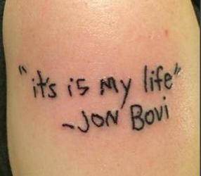 Typos on Tattoo